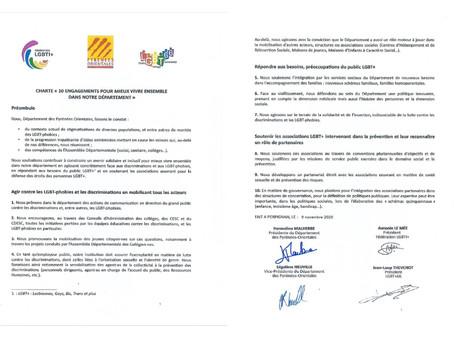 ELECTIONS DEPARTEMENTALES : LA CHARTE  DES 10 ENGAGEMENTS POUR MIEUX VIVRE ENSEMBLE
