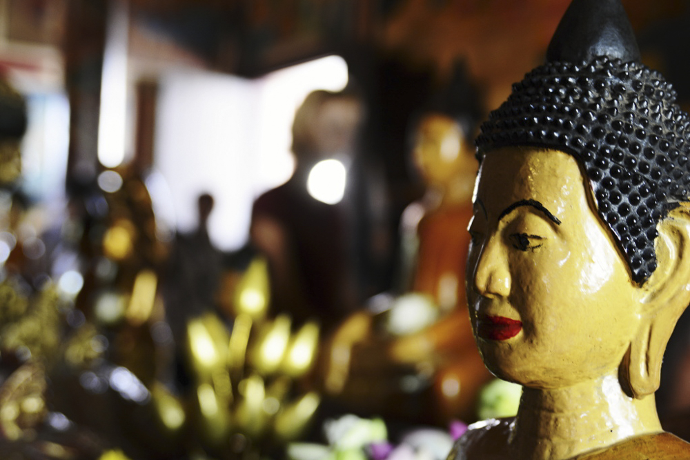 Kambodža - Wat Phnom v Phnom Penhu