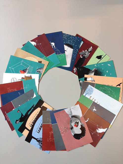 Set van 48 postkaarten