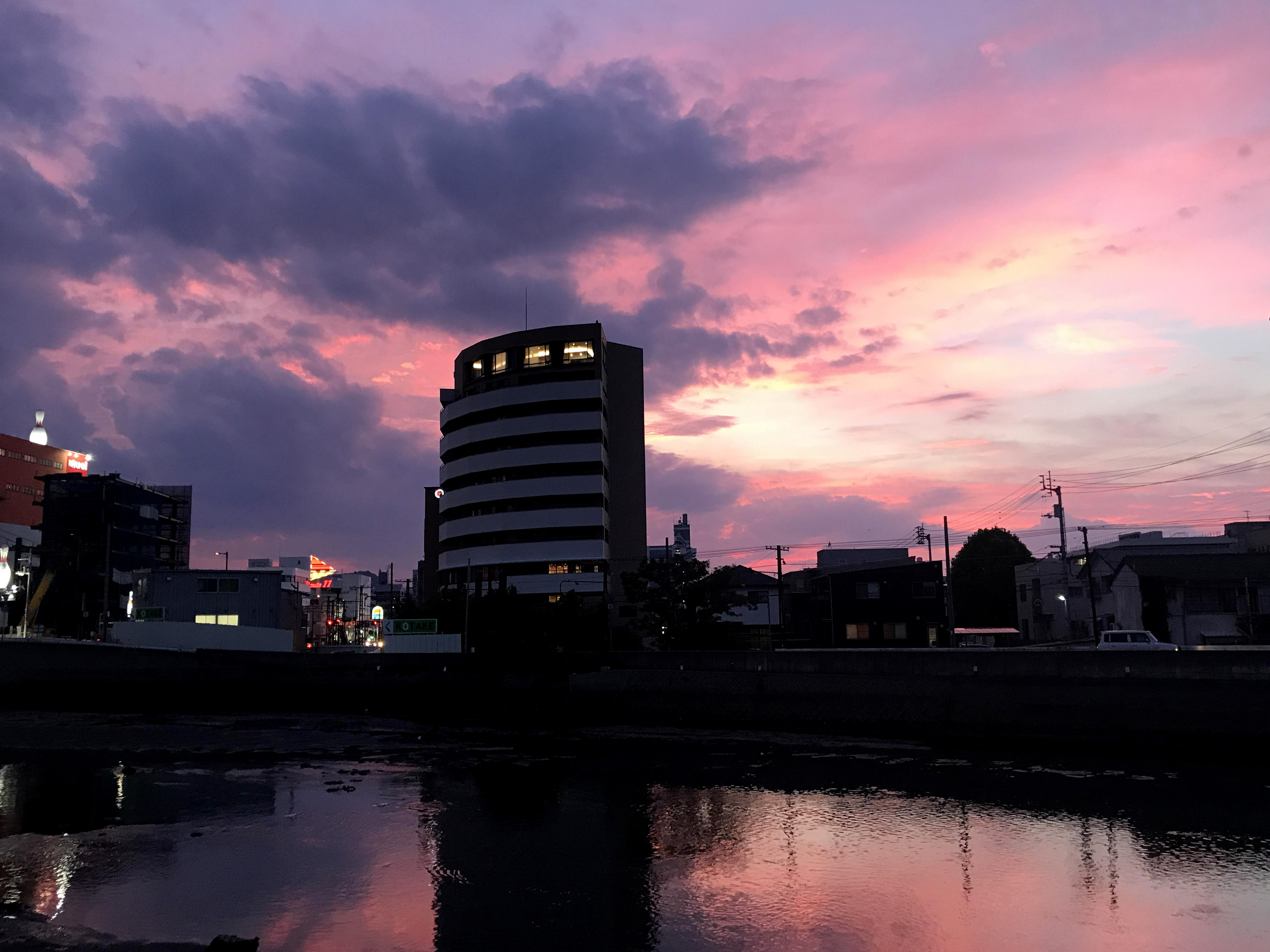 黄昏時の 沖松島