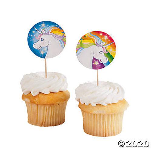 Unicorn Cupcake Picks
