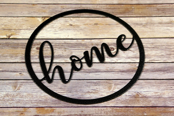 Home ~ Round Metal Sign
