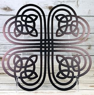 Celtic Clover Metal Wall Art