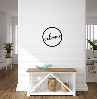 Welcome ~ Round Metal Sign