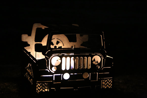 """Collapsible Jeep Fire Pit ~ 1/8"""" Steel"""