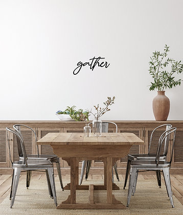 Gather ~ Script Font Sign