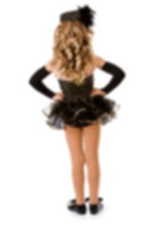 Dance_ Girl Tap Dancer in Fancy Costume.