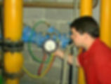 backflow preventer with technician
