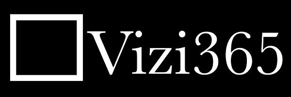 Vizi365 black background square logo tra