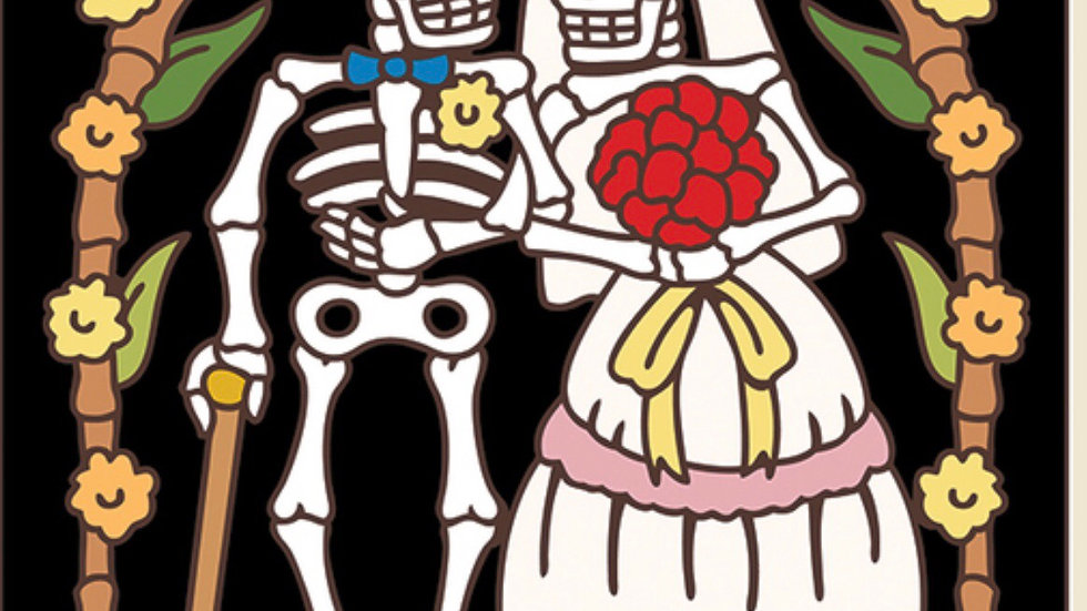 Day of the Dead Wedding Tile