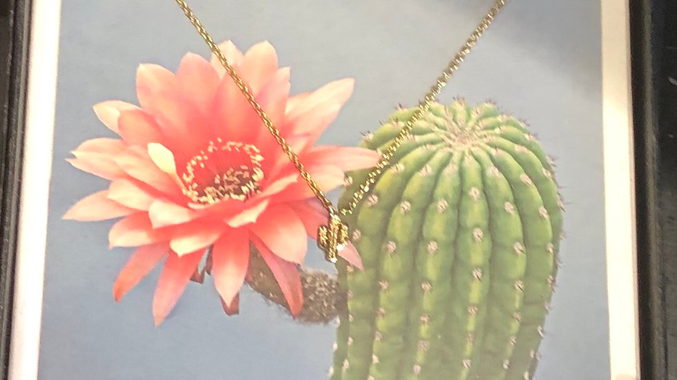 Saguaro Necklace and Earring Set, Gold