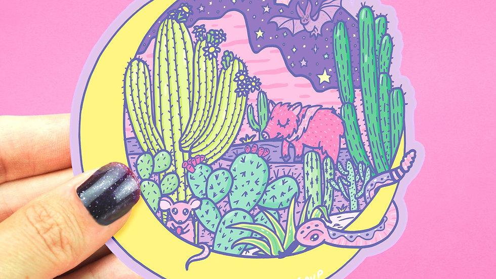Moon Desert Sticker