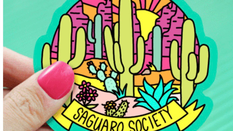 Saguaro Society Sticker by Turtle's Soup