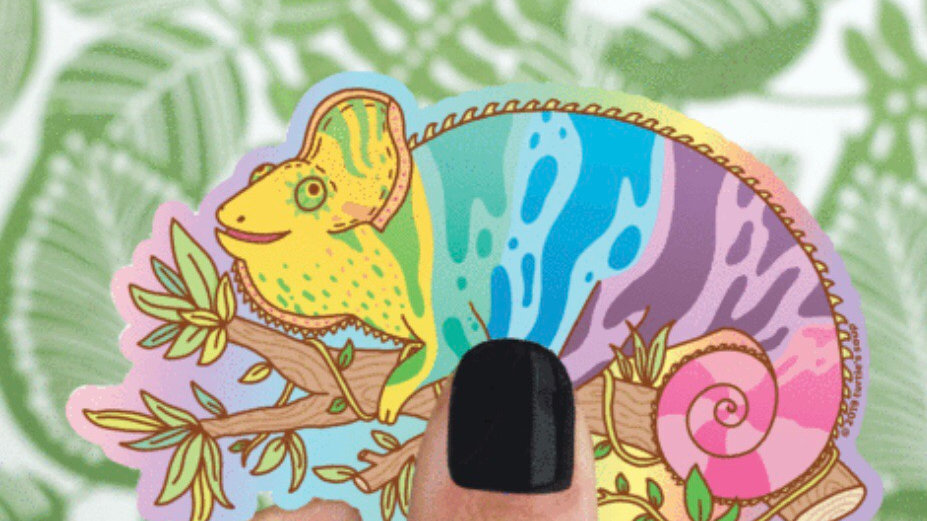 Gecko Sticker by Turtles Soup