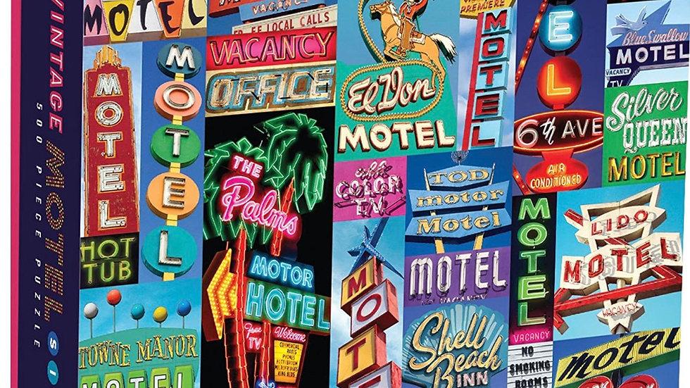 Vintage motel sign puzzle