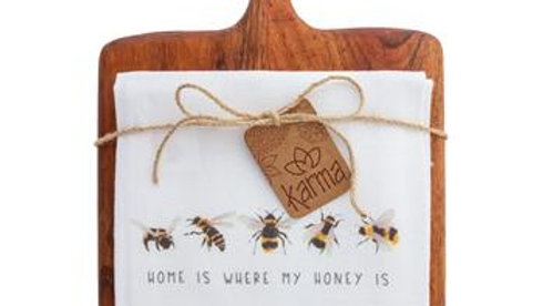 Home is where the honey is Dish Towel and Cutting Board