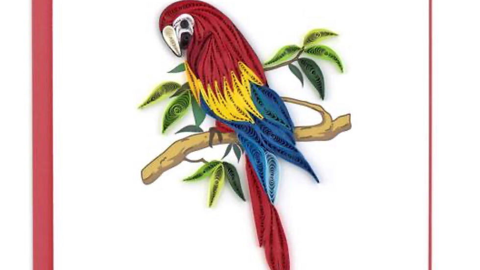 Quilling Parrot Card