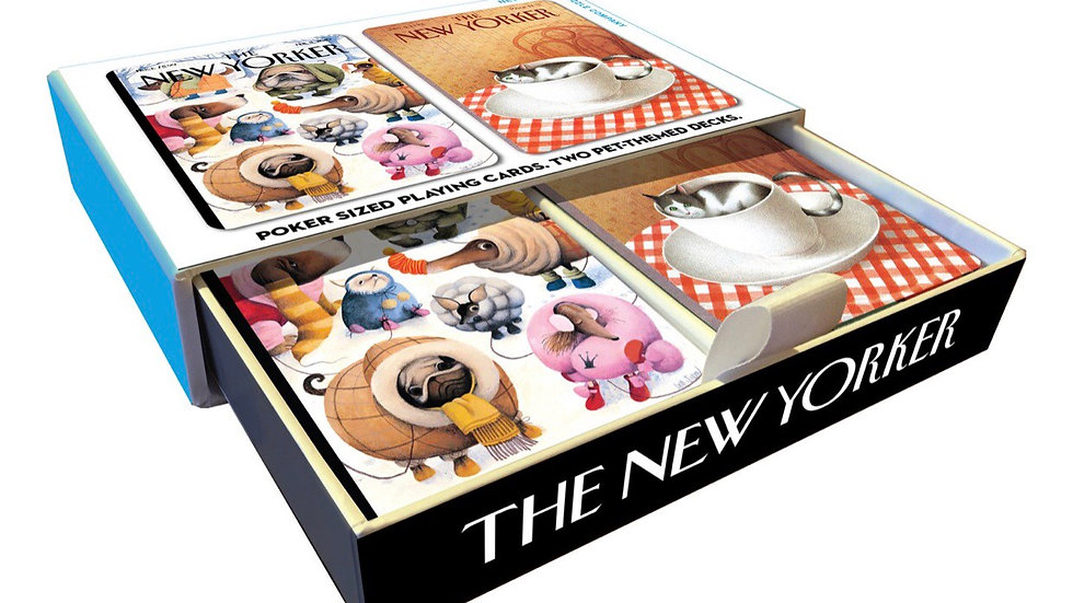 New Yorker Dog and Cat Playing Card Set