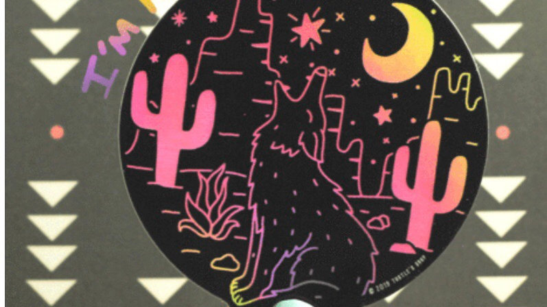 Holographic Coyote Sticker by Turtle's Soup