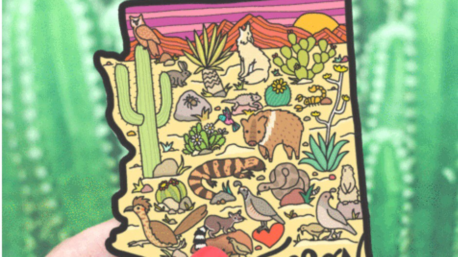 Arizona state sticker by Turtles Soup