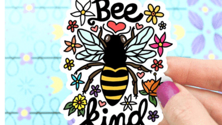 Bee Kind Sticker by Turtle's Soup