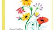 Wildflower Happy Birthday Quilling Card