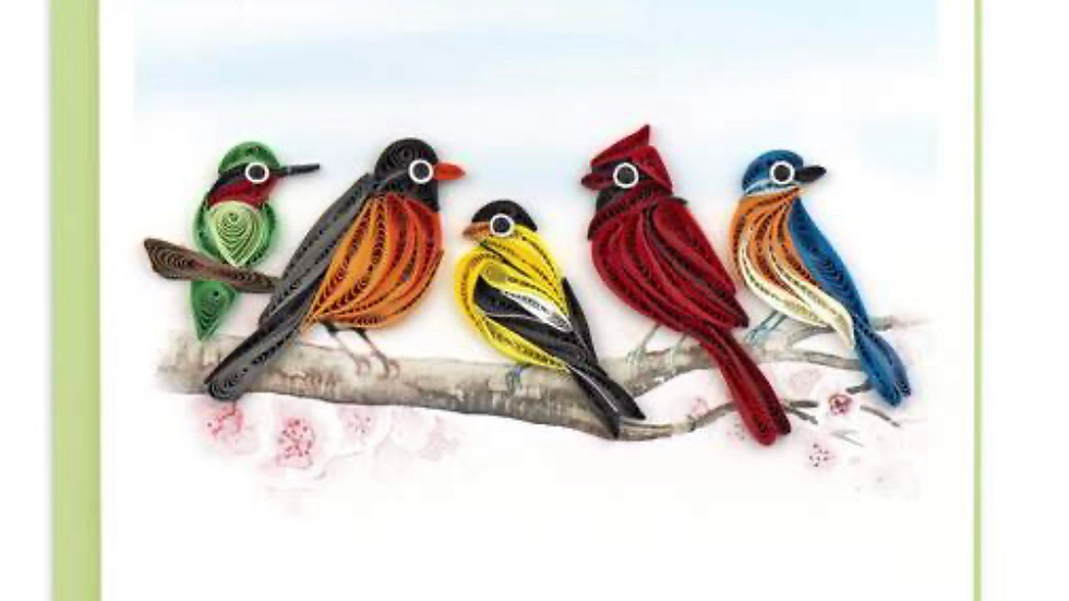 Birds on a branch Quilling Card