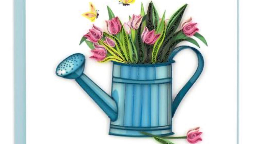 Watering Can Quilling Card