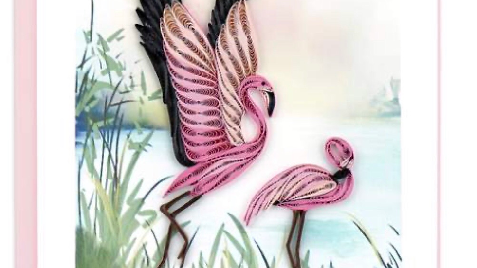 Flamingo Quilling Card