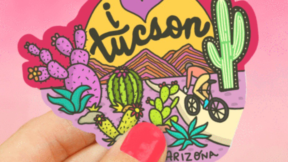 I love Tucson Sticker