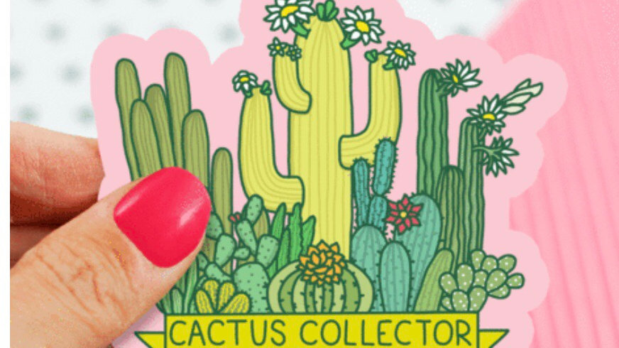 Cactus Collector Sticker by Turtle's Soup
