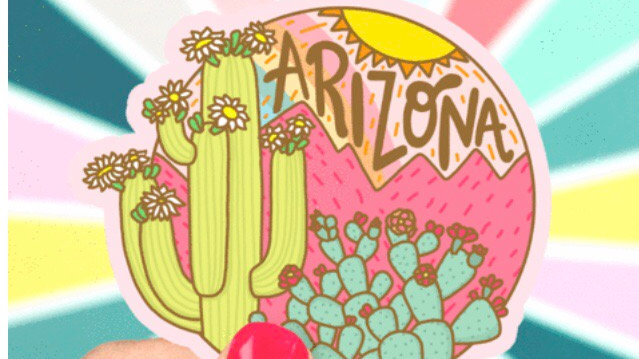 Cactus Sticker by Turtles Soup