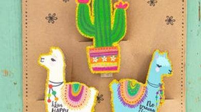 Llama and Cactus Bag Clips