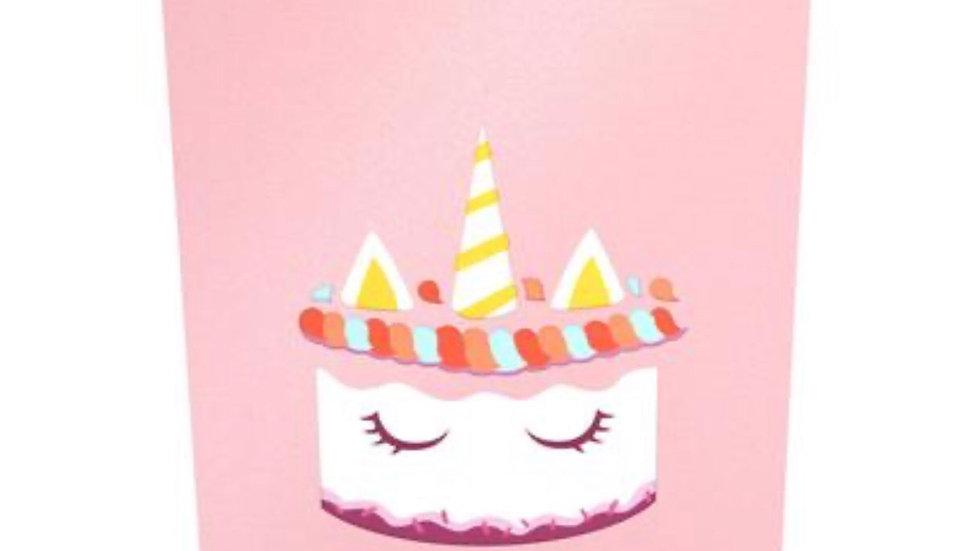 Unicorn Cake Pop Up Card