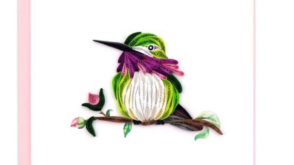 Calliope Hummingbird Quilling Card