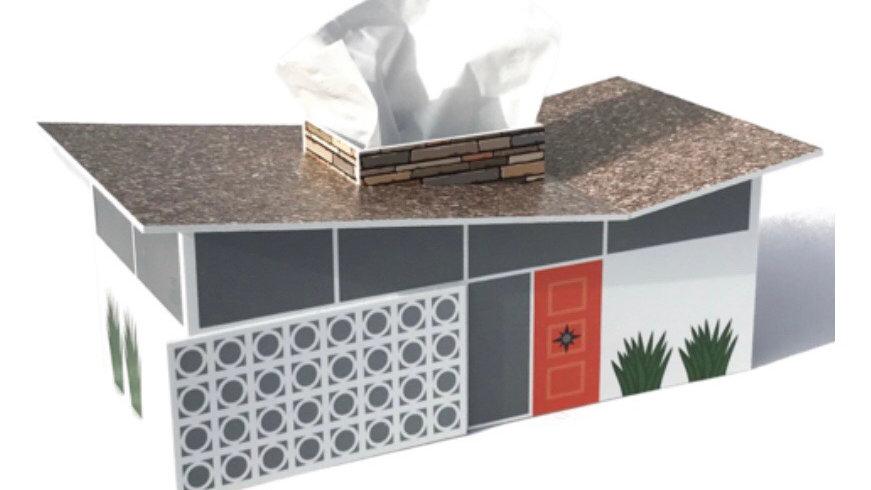 Mid Century Modern Tissue Box