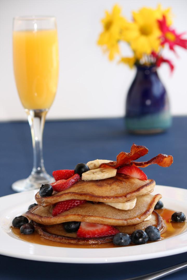Pancakes and Mimosas