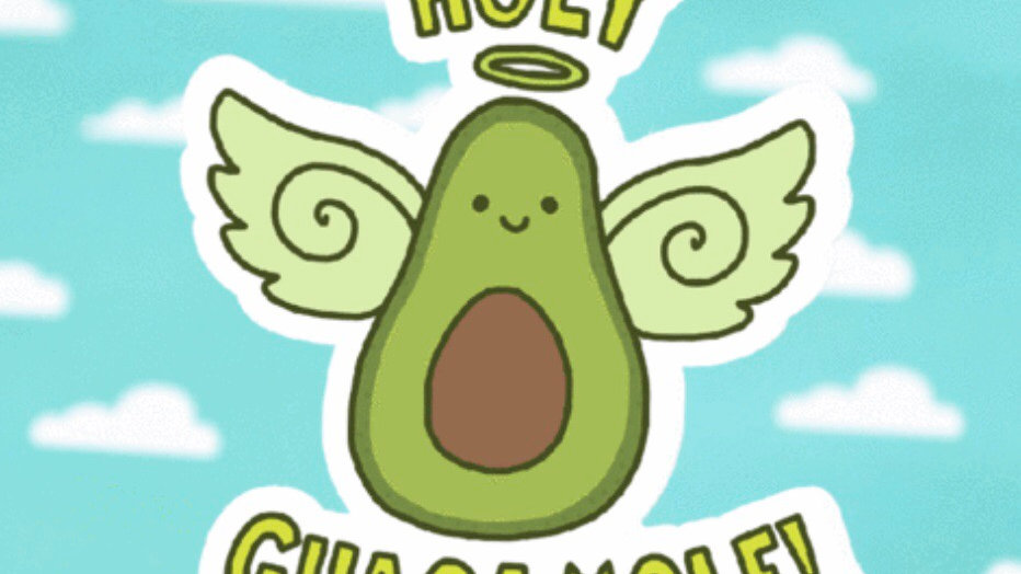 Holy Guacamole Sticker by Turtle's Soup
