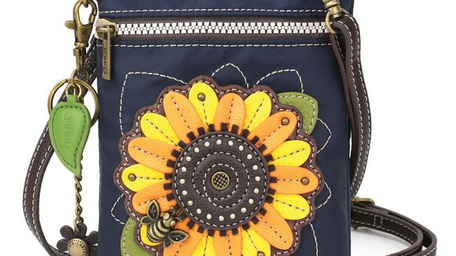 Chala Sunflower Crossbody, RFID Protected