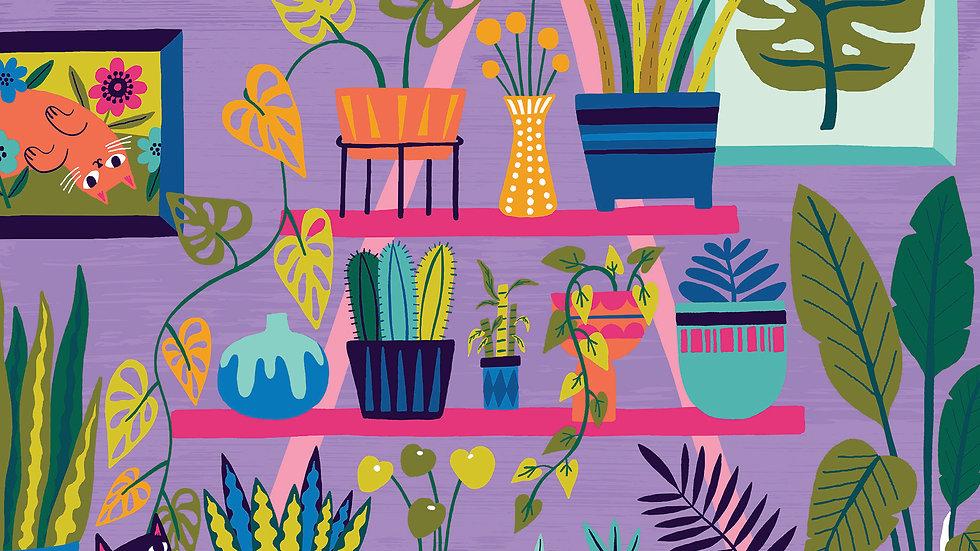 Purrfect Plants, 500 pc puzzle