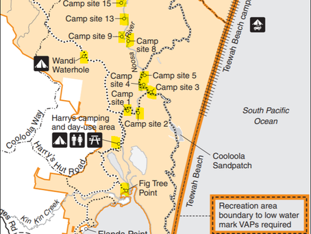11 Campgrounds along 25klm of the Upper Noosa River