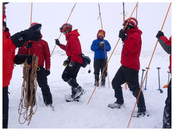 Avalanche Probe Team with Guidon