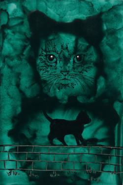Green cat / Cath Gwyrdd