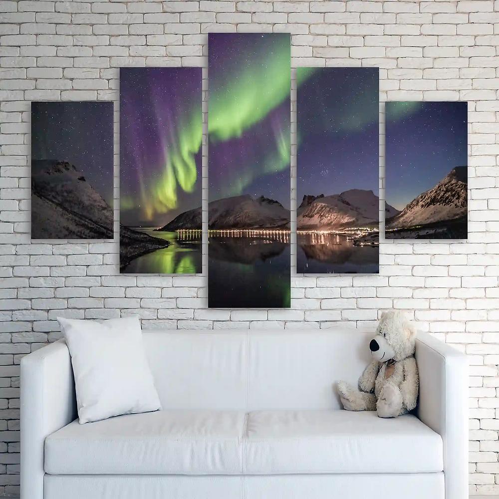 glitter canvases split prints Nature