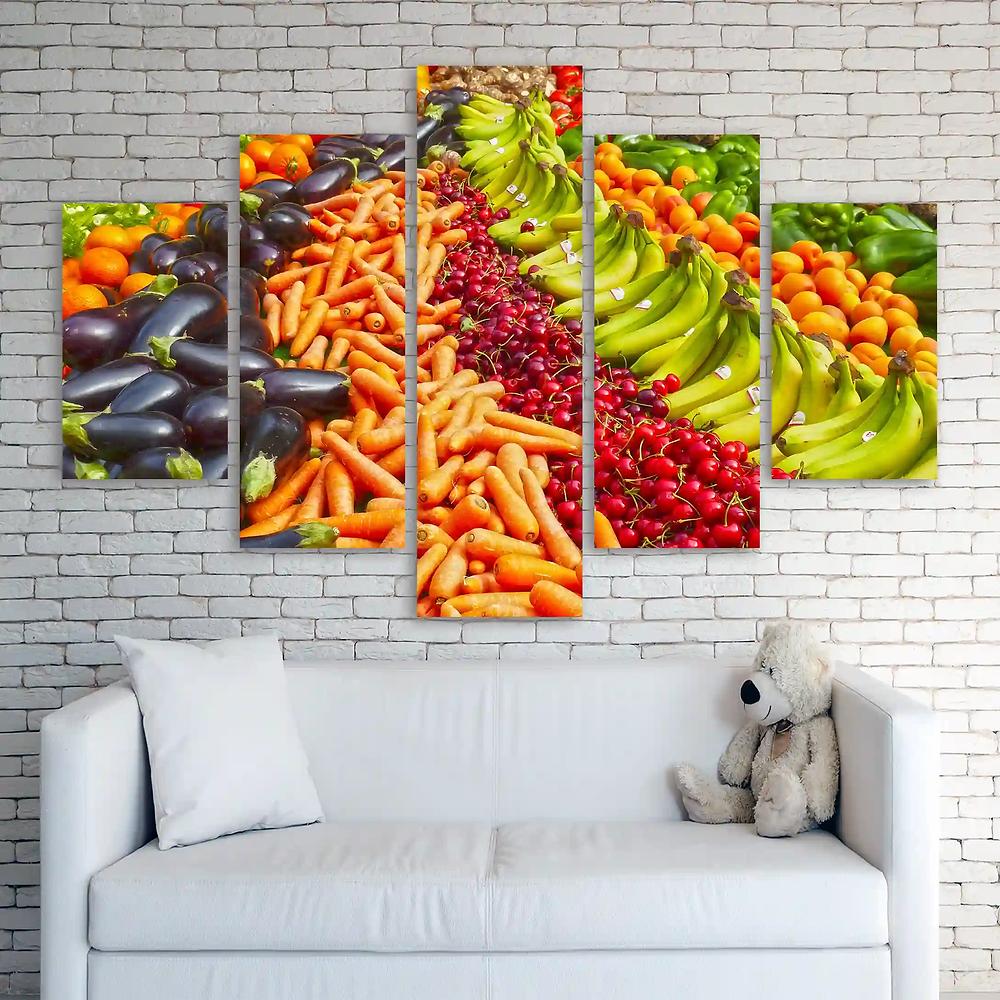 glitter canvases split prints Food