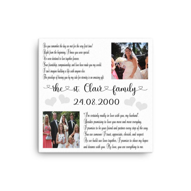 glitter canvas - wedding vows