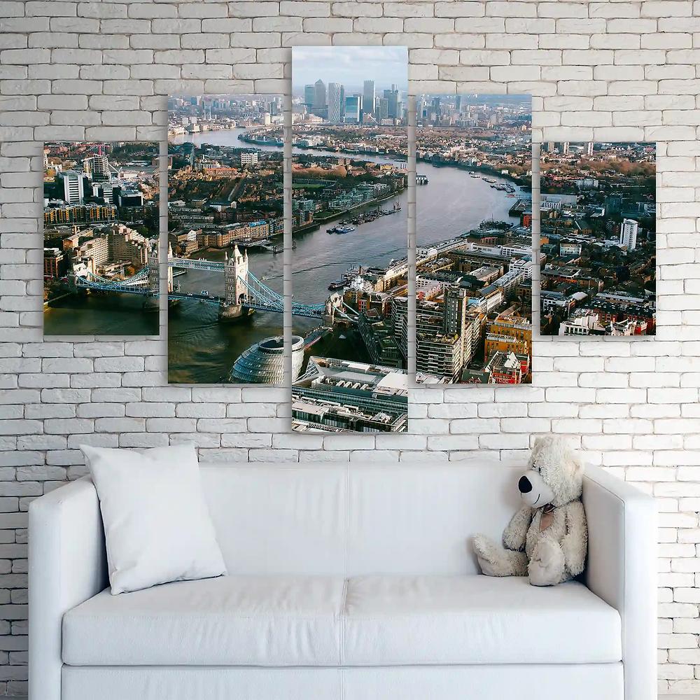 glitter canvases split prints London