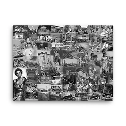 glitter canvases - black & white montages