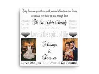 Glitter Canvas For The Wedding Day