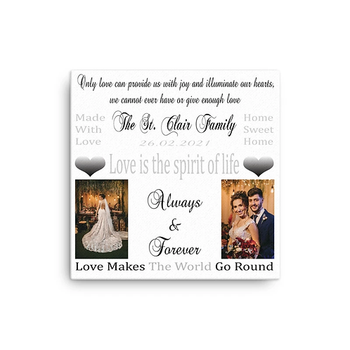 glitter canvases wedding